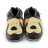 Snuggle Feet - Suaves Zapatos De Cuero Del Bebé Cachorro jugueton (6-12 meses)