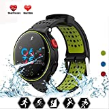 YUEC Smart Watch IP68 Waterproof Touch Screen Armband-Fitness-Band Fitness Tracker Bracelet Activity Tracker mit Heart Rate Monitor Sleep Monitor Pedometer Step für iOS Android,C