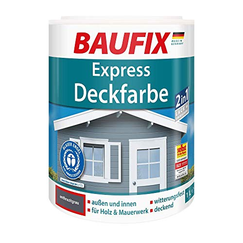 BAUFIX Express Deckfarbe, anthrazitgrau, 2,5L