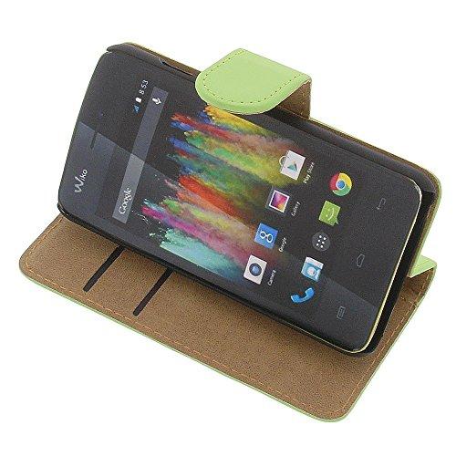 Tasche für Wiko Kite 4G Book Style grün Kreditkarte Schutz Hülle Buch