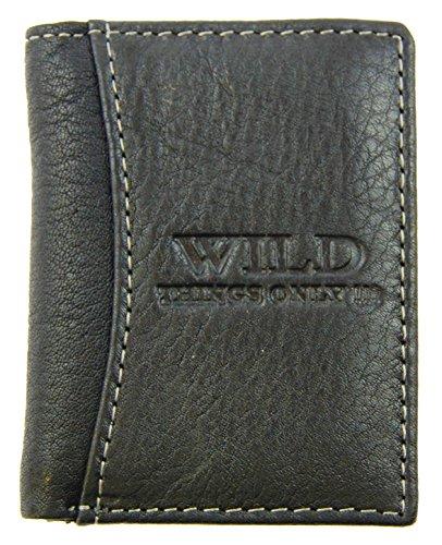 M99 Herren Geldbörse (Wild) dunkelblau navy Portemonnaie Echt Leder 5518 kleine Ausführung Maße: Länge ca. 8,5 cm, Breite: ca. 6,5 cm