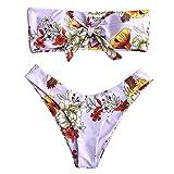 UMIPUBO Costumi da Bagno Donna Stampa Il Modello Costumi da Mare Due Pezzi Spiaggia Bikini Set Vita Bassa Bikini Senza Spalline Push Up Benda Swimwear Beachwear
