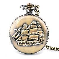 Orologio Barche a vela d'epoca di gioielli orologio flip orologio da tasca catena maglia tasca , 1