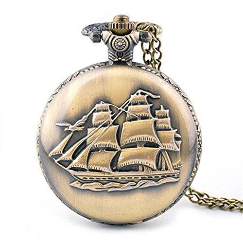 Barche a vela d'epoca di gioielli orologio flip orologio da tasca catena maglia tasca , 1