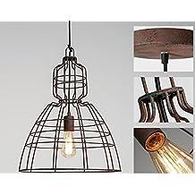 FWEF Hierro Industria Lámpara Para Hacer El Hierro Iluminación Creativa Jaulas De Hierro Candelabro De Restauración Personalizado Tienda De Café Tienda De Ropa Vieja