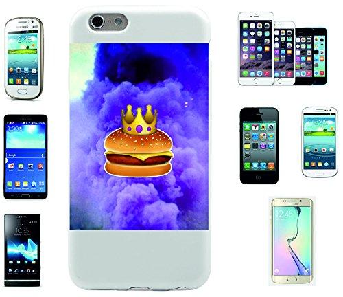 """Smartphone Case Apple IPhone 7 """"Burger mit Krone und Wolken sieht sehr lecker aus"""", der wohl schönste Smartphone Schutz aller Zeiten."""