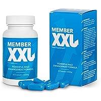 ✅MEMBER XXL Premium Puissance médicaments et agrandissement du pénis + 9cm, Puissance et l'aide à l'erection pour tous les hommes, Paquet de base 1x60 Capsules / 1x650 mg