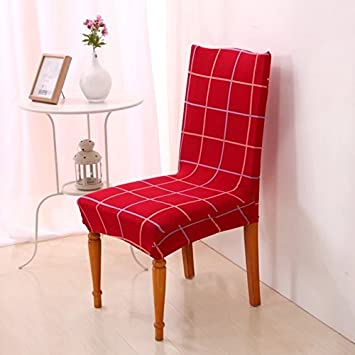Yiwant Super Fit Stretch Removable Washable Short Dining Chair Cover Protector Seat Slipcover For HotelDining RoomCeremony