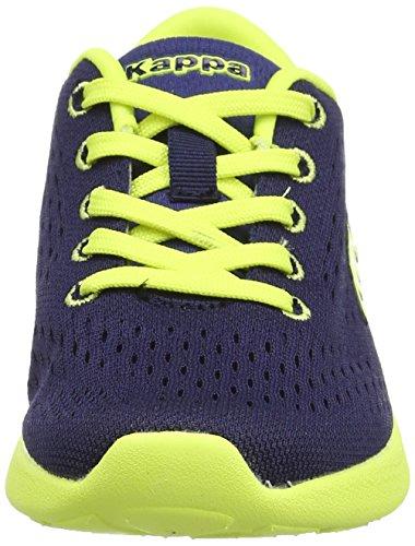 Kappa Delis Unisex-Kinder Sneaker Blau - Bleu (Blue Navy/Green Lime)