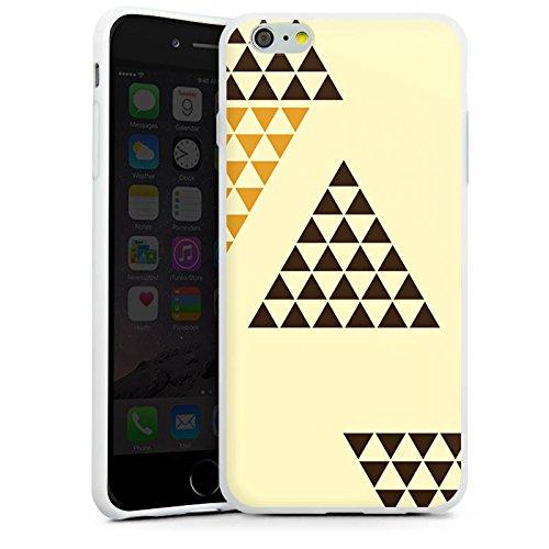 Apple iPhone X Silikon Hülle Case Schutzhülle Dreieck Pyramide Triforce Silikon Case weiß