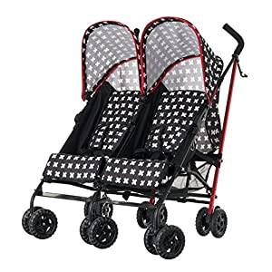 Obaby Apollo Twin Stroller, Crossfire   1