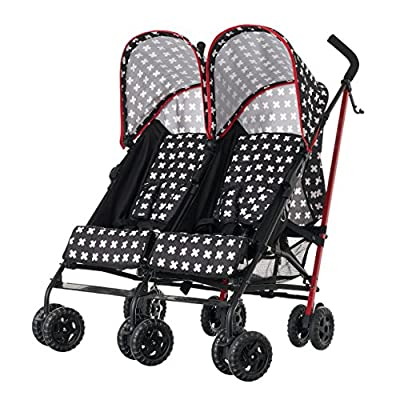 Obaby Apollo Twin Stroller, Crossfire