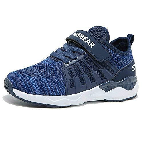 Turnschuhe Kinder Hallenschuhe Jungen Sportschuhe Mädchen Laufschuhe Sneaker Outdoor für Unisex-Kinder  28 EU=29 CN,  Blue