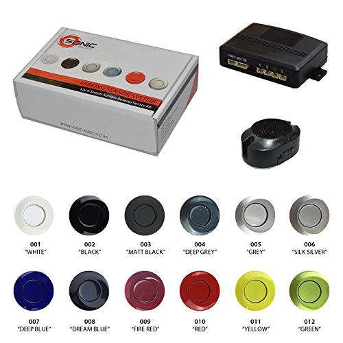 Sonic Audio VS-4–Kit de Sensor de aparcamiento para marcha atrás con alarma/zumbador–pintado color opciones