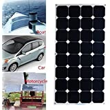 Panel Solar 100W 18V MOHOO? SUNPOWER semi-flexible panel fotovoltaico de alta eficiencia 22% de transformaci¨®n IP67 MC4 protecci¨®n Con Sea