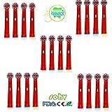 Sohv® cabezales de repuesto para cepillo eléctrico, compatibles con Braun Oral-B Stages Power Kids EB10-4/EB-10A,20 unidades(5 paquetes), de color blanco