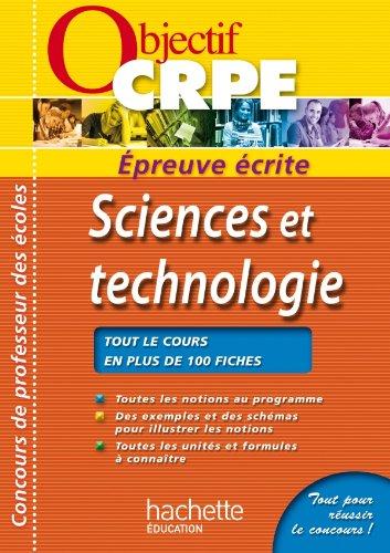 CRPE en fiches : Sciencs et technologies