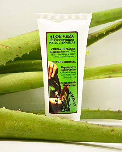 Aloe Vera Handcreme 100ml von Fuerteventura, mit Ringelblume und Wildrosenöl