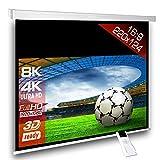 Écran de projection motorisé 220 x 124 cm SlenderLine Plus, Format 16:9 FULL-HD 3D 4K 8K, Écran de projection électrique pour vidéoprojecteur, Home Cinema, pour Mur ou Plafond, avec Télécommande