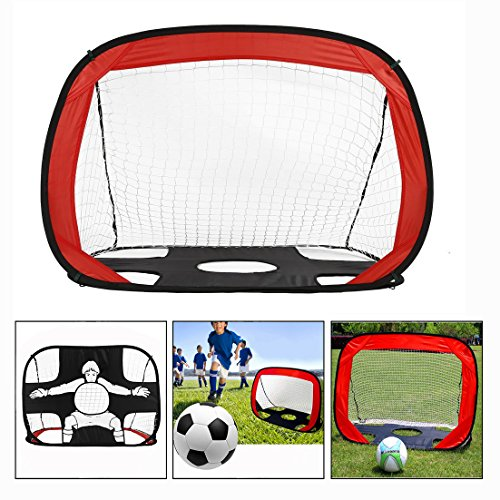 OFKPO Fußball Tor,Faltbar Kinder Fußball Training Target Net,mit strapazierfähiger Polyester Mesh Rahmen Perfekt für Indoor & Outdoor Sport Praxis (Lacrosse-netze Ziele)