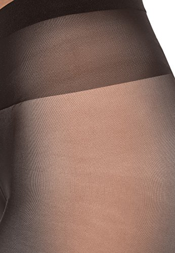 Wolford Individual, Collant Donna, 10 DEN nearly black