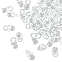 100Clear Mini Decorative Dummies-2cm-Dummies for a Baby Shower Or Pendant, Acrylic. By Kleenes Traumhandel®