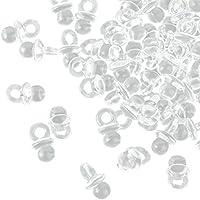 100 chupetes Transparentes Mini dekos – 2 cm – Chupete para la Baby Party o como colgante – Chupete de bebé de acrílico – Kleenes Traumhandel®