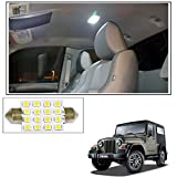 #6: Vheelocityin 16 SMD LED Roof Light White Dome Light for Mahindra Thar