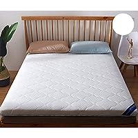 GJFLife Plegable Poliester Primeros del colchón Tatami Sleeping Pad, Espesado Suelo Protector de colchón Futón Solo Doble Amortiguador de la Cama-A 150x200x8cm