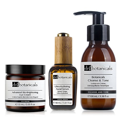 Dr Botanicals Cleanse and Tone, Ultra Hydrating Facial Serum, Advanced Bio Brightening Eye Cream, 1 Stück (Anti-aging Hydrating Eye Cream)