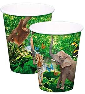 Folat Nuevo Taza Safari Party, Aprox. 250ml, 8Unidades