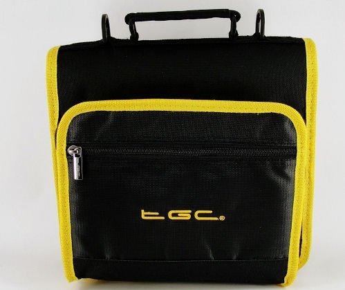 new-jet-negro-y-resplandor-amarillo-adornos-y-revestimientos-deluxe-doble-compartimento-hombro-bolsa