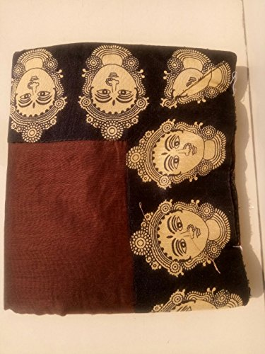 Rajeshwar Fashion Women's Cotton Saree With Blouse Piece (Mataji Border Brown_Brown)