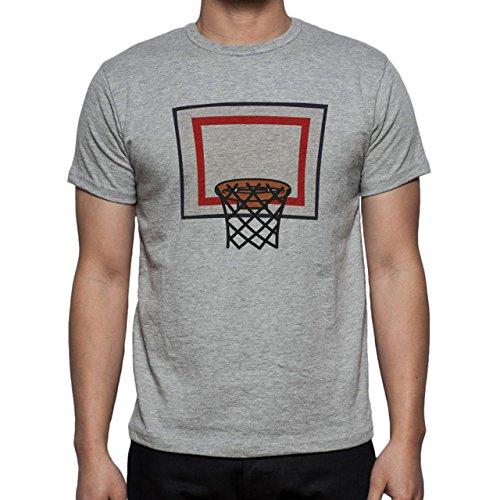 Basketball Net Hoop Close Up Herren T-Shirt Grau