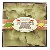 Dinosaur Cookie Cutter Set of 5 Large Cutters, by Fox Run