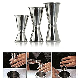 Aliciashouse Stainless Steel Bar Jigger Drink Cocktail Alkohol Barkeeper Messung Double Shot -L
