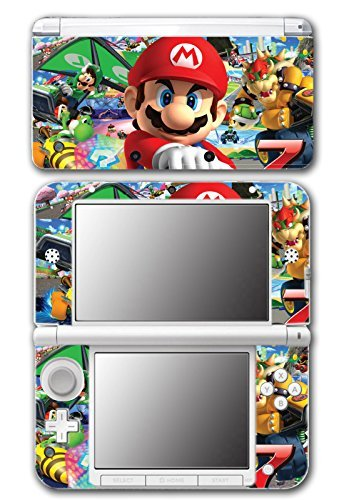 Mario Kart 8 Luigi Yoshi 7 Bowser Glider Video Game Vinyl Decal Skin Sticker Cover for Original Nintendo 3DS XL System by Vinyl Skin Designs