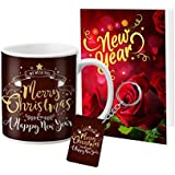 VESPL LOF New Year Celebretion and Christmas Gifts Message with Card Mug Keychain
