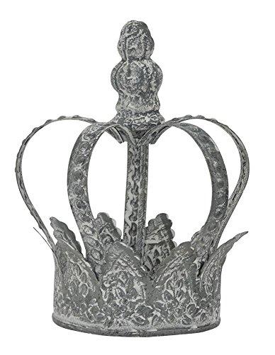 Garten-Krone Deko-Krone Pflanz-Krone Metall shabby weiss gekalkt Shabby Optik (klein)
