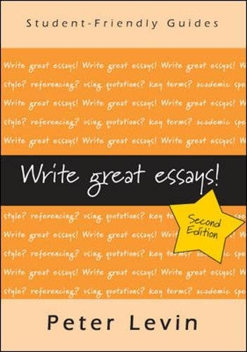 Write Great Essays (Studentfriendly Guides)