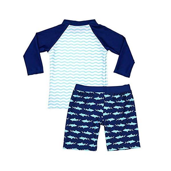 Traje de Baño para Niños de Dos Piezas con un Gorro de Natación de Surf Playa UV Protection Bath Set 2