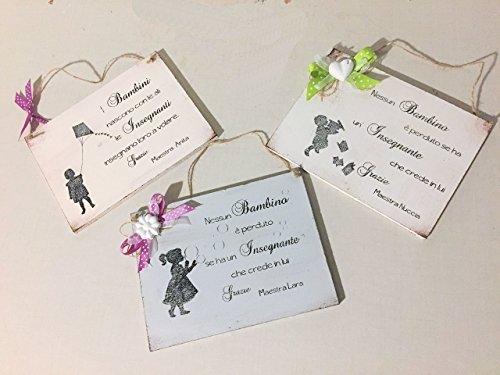 Idea regalo targa per maestra - personalizzabile con nome.