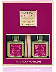 Baylis & Harding Midnight Fig & Pomegranate Fragranced Reed Diffuser Duo