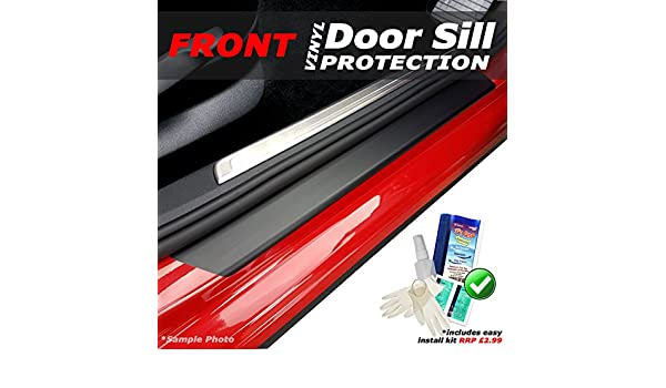 Easy Install Kit Included carmats4u Matt Black Vinyl Rear Door Sill Protectors 4 Piece