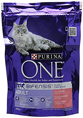 Purina ONE Adult Dry Cat Food - 200 g (Pack of 6)