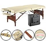 Master Massage 71 cm Del Ray Pro Tragbarer Massage-Therapie Beauty Couch Tisch Massageliegen Bett Paket, sand Farbe, luxuriöser mit 6,3 cm dick Kissen aus Schaumstoff (Standard)