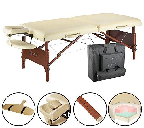 Master Massage 71 cm Del Ray Pro Tragbarer Massage-Therapie Beauty Couch Tisch Massageliegen Bett Paket, sand Farbe, luxuriöser mit 6,3 cm dick Kissen aus Schaumstoff (Standard) (Luxuriöse Bett-tasche)