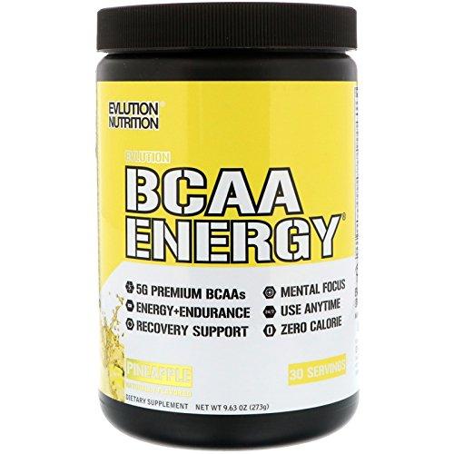 Evlution Nutrition BCAA Energy   Leistungsstarke Energiespendende Aminosäuren Für Muskelaufbau (Pineapple, 30 Portionen) -