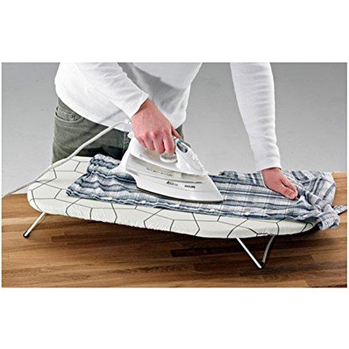 Tabla de planchar plegable para mesa con gamuza