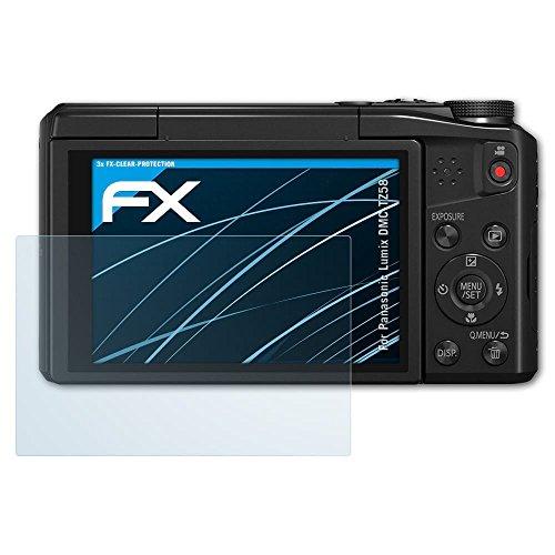 Panasonic Lumix DMC-TZ58 Schutzfolie - 3 x atFoliX FX-Clear kristallklare Folie Displayschutzfolie